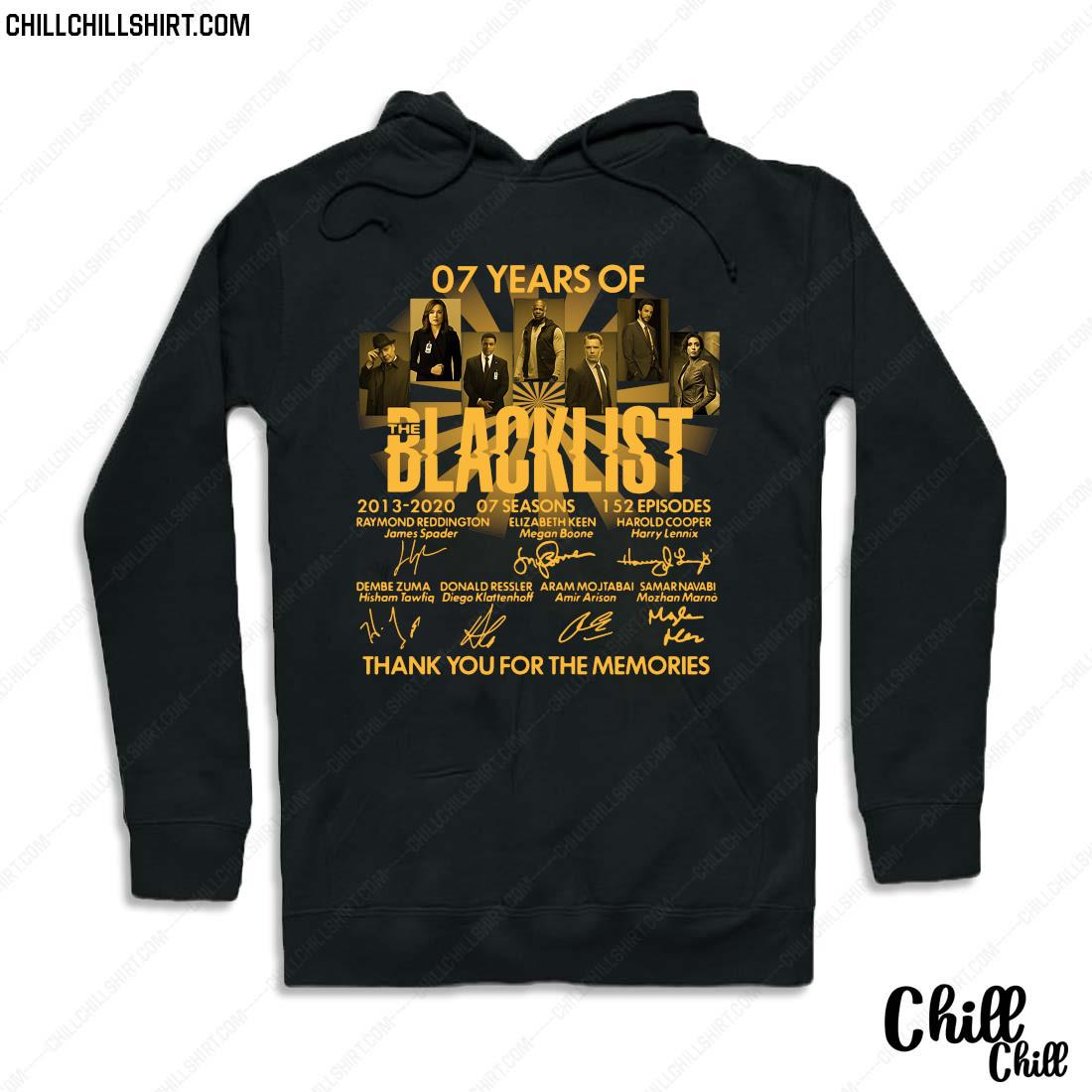 07 Years Of The Blacklist Thank You For The Memories Shirt Hoodie