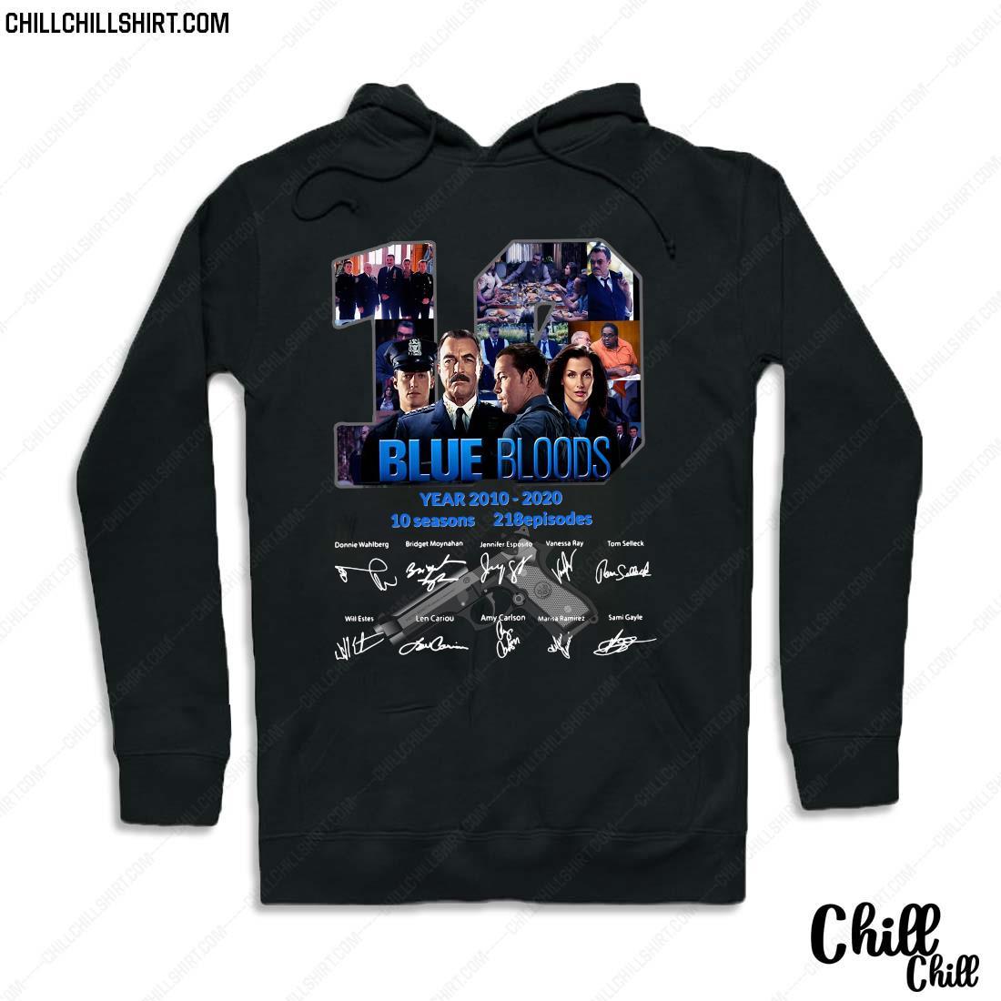 10 Blue Bloods Year 2010 2020 10 Seasons 218 Episodes Shirt Hoodie