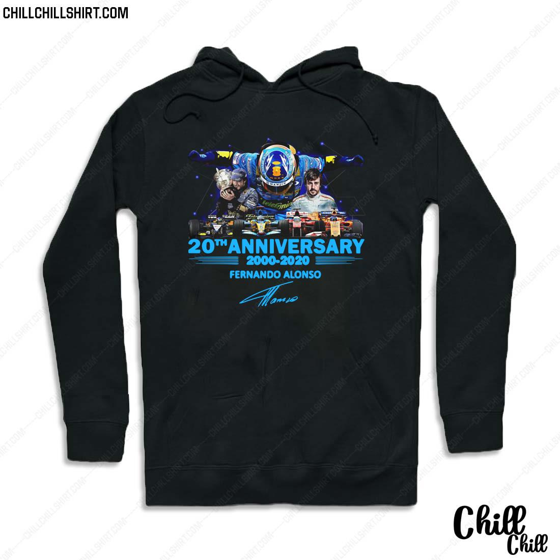 20th Anniversary 2000 2020 Fernando Alonso Signature Shirt Hoodie