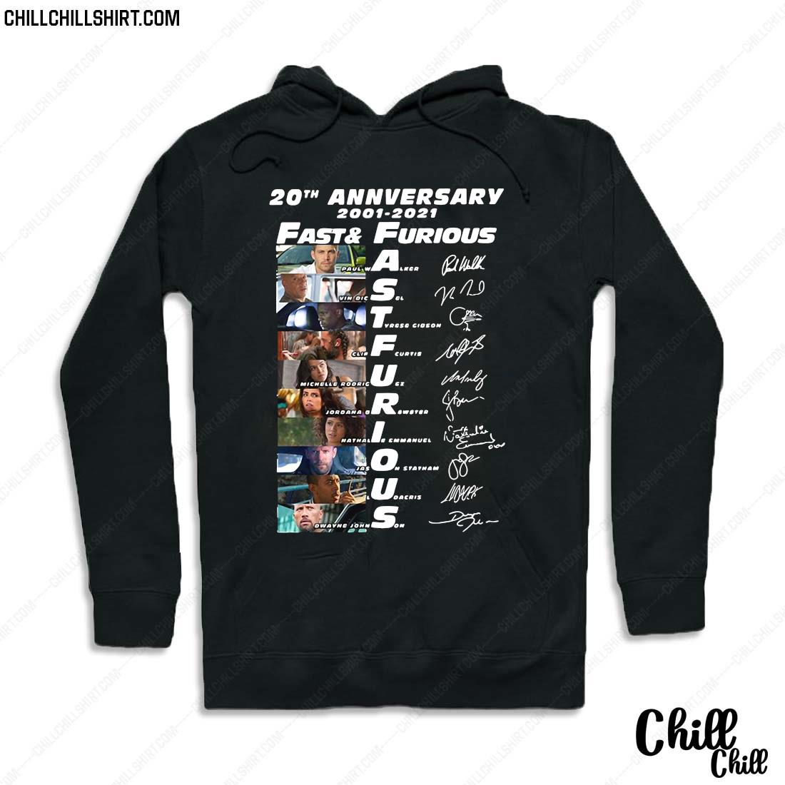 20th Anniversary 2001 2021 Fast And Furious Signatures Shirt Hoodie
