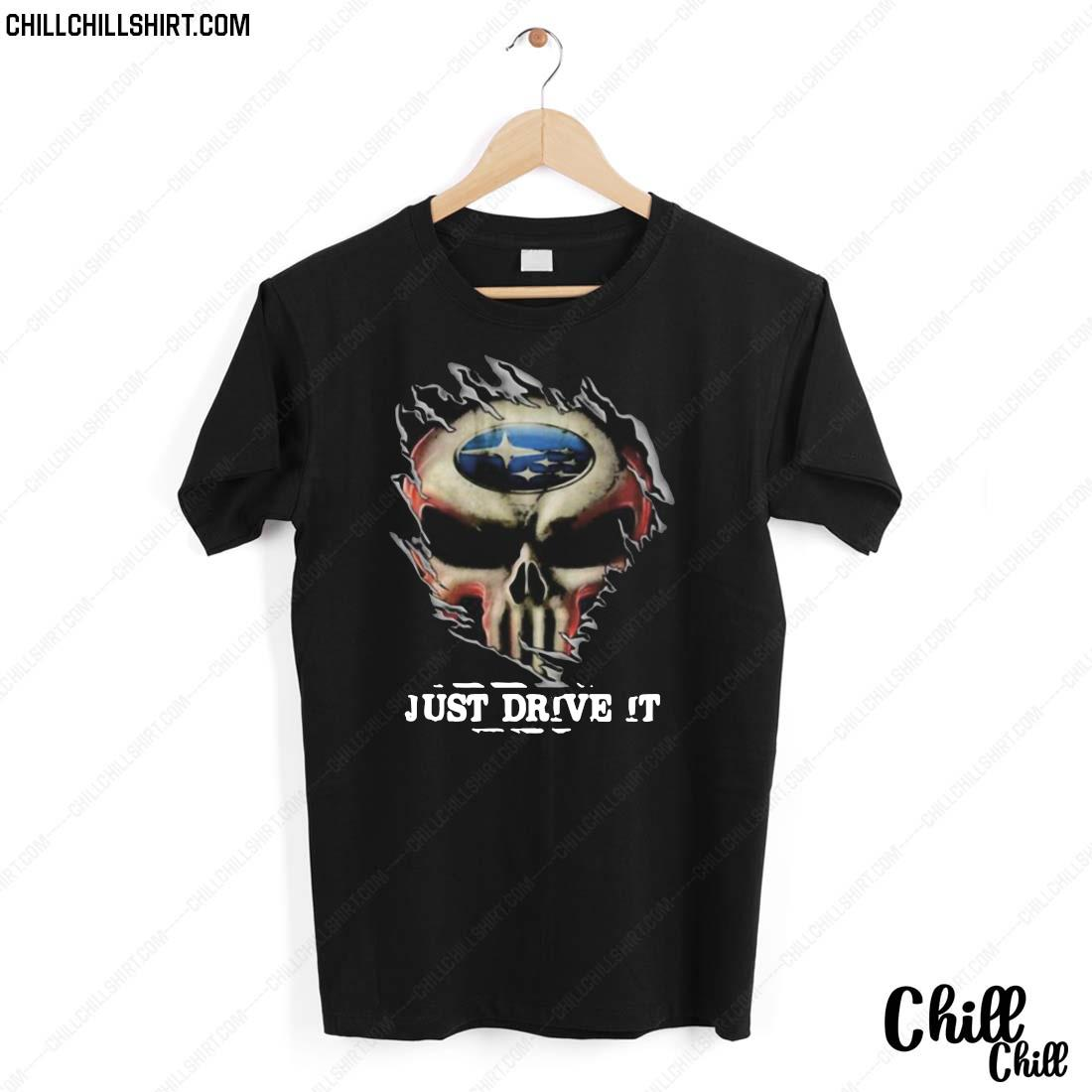 Blood Insides Skull Ford Just Drive It Shirt