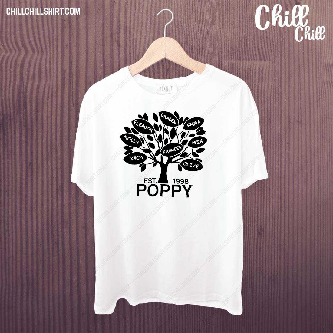 Coolspod Personalized EST 1998 Poppy Tree Shirt