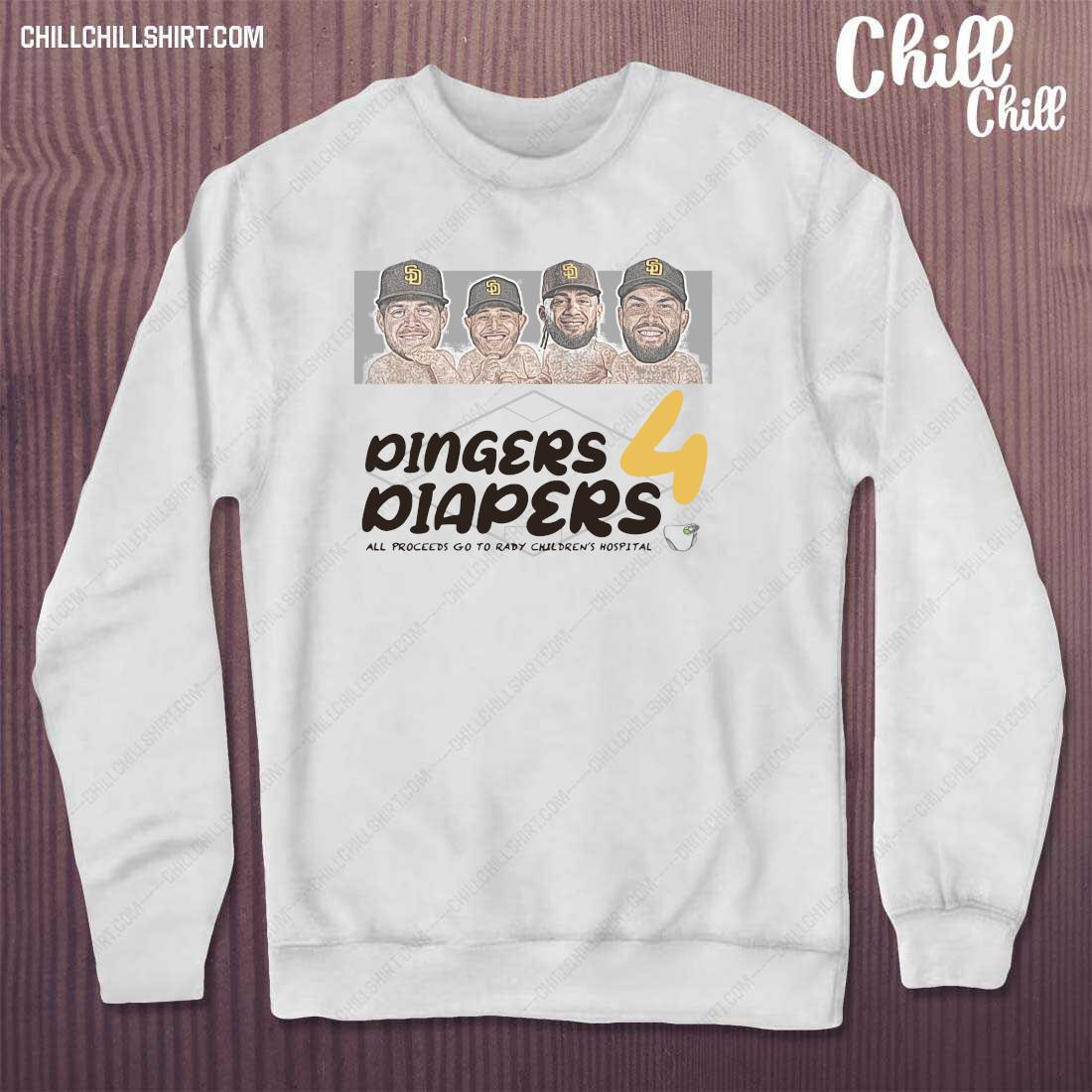 Diaper Run Dingers 4 Diapers All Proceeds Go To Rady Children_s Hospital Shirt sweater