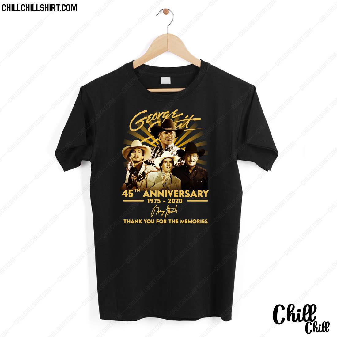 George Strait 45th Anniversary 1975-2020 Signature Thank You For The Memories Shirt