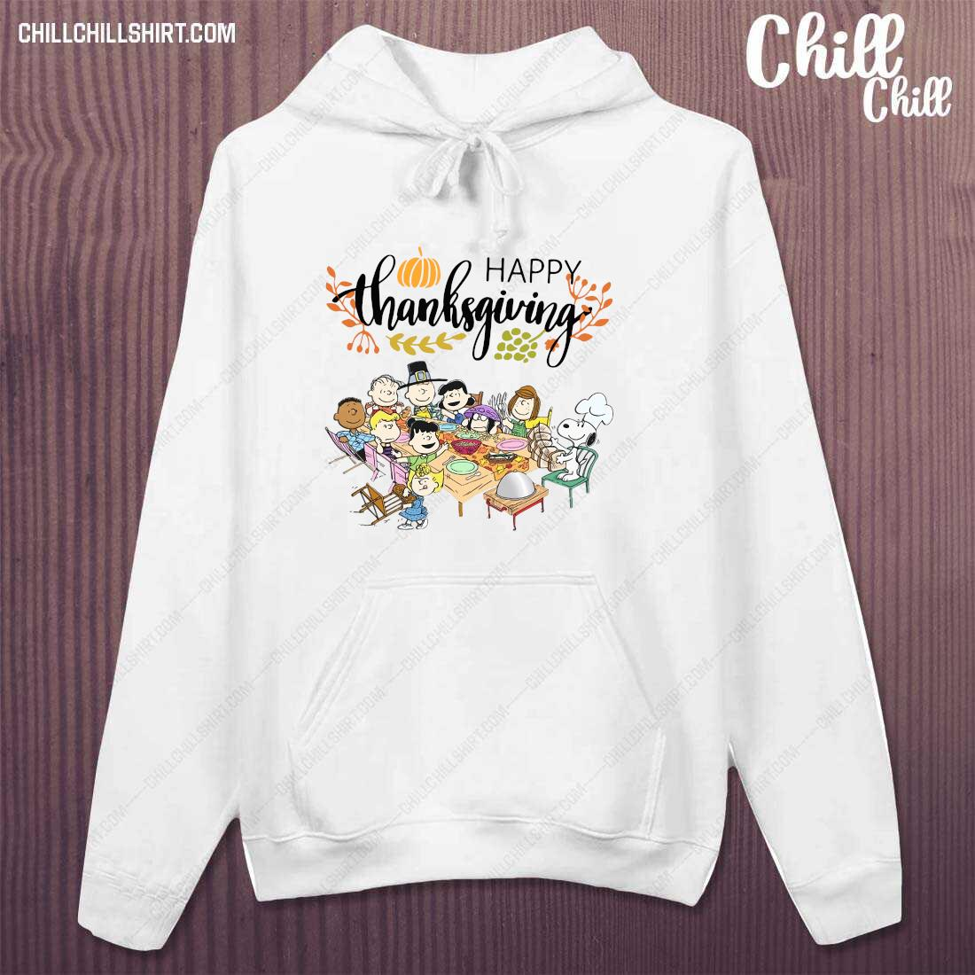 Happy Thanksgiving Peanuts Party Shirt hoodie