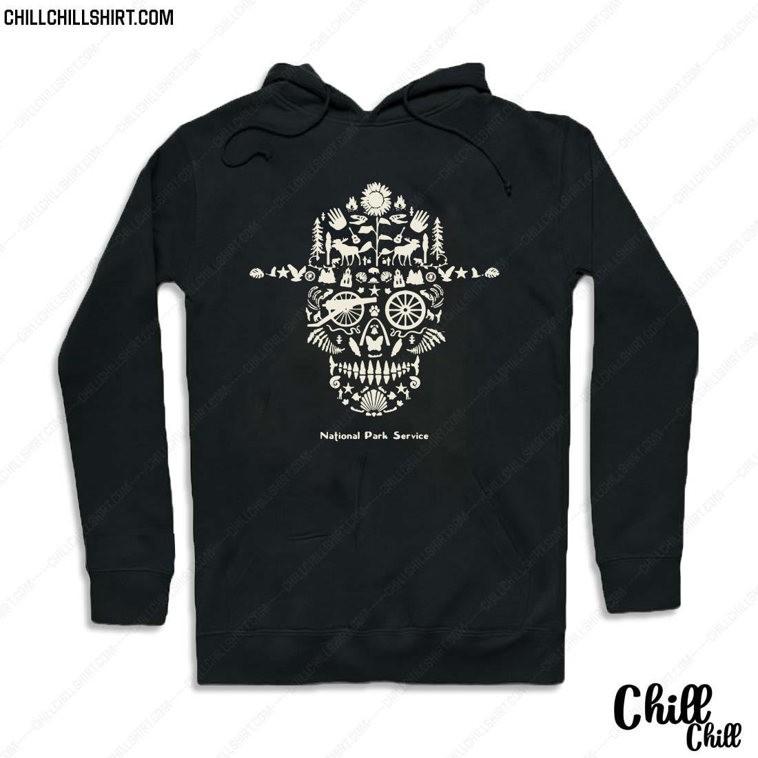 Skull National Park Service Shirt Hoodie
