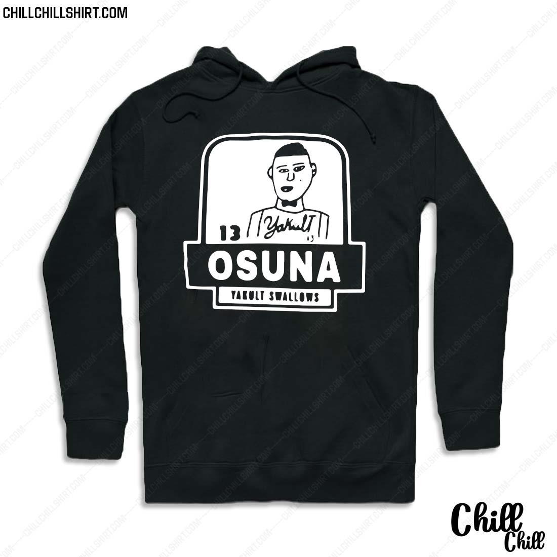 13 Yakult Osuna Yakult Swallows Shirt Hoodie
