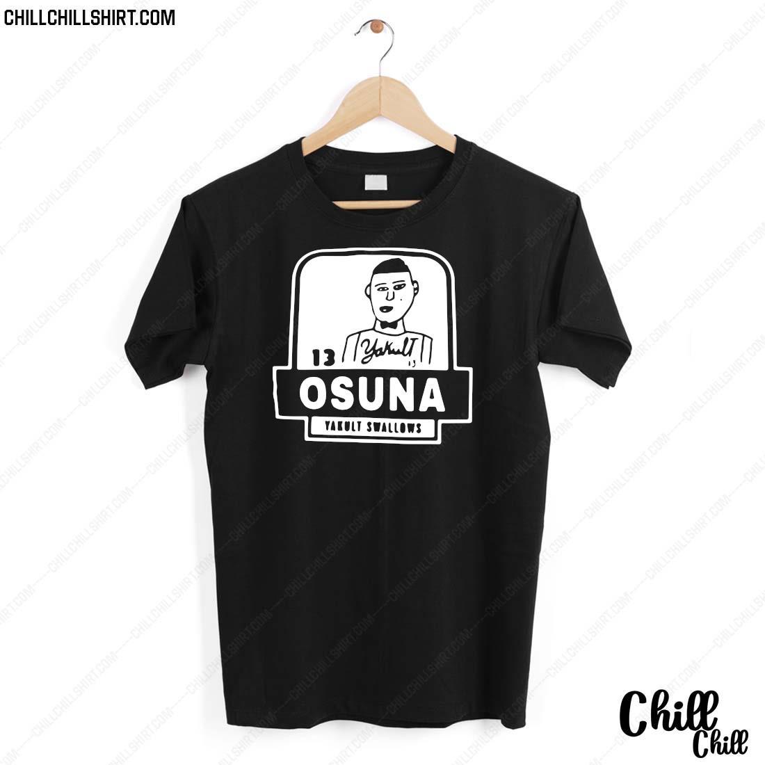13 Yakult Osuna Yakult Swallows Shirt