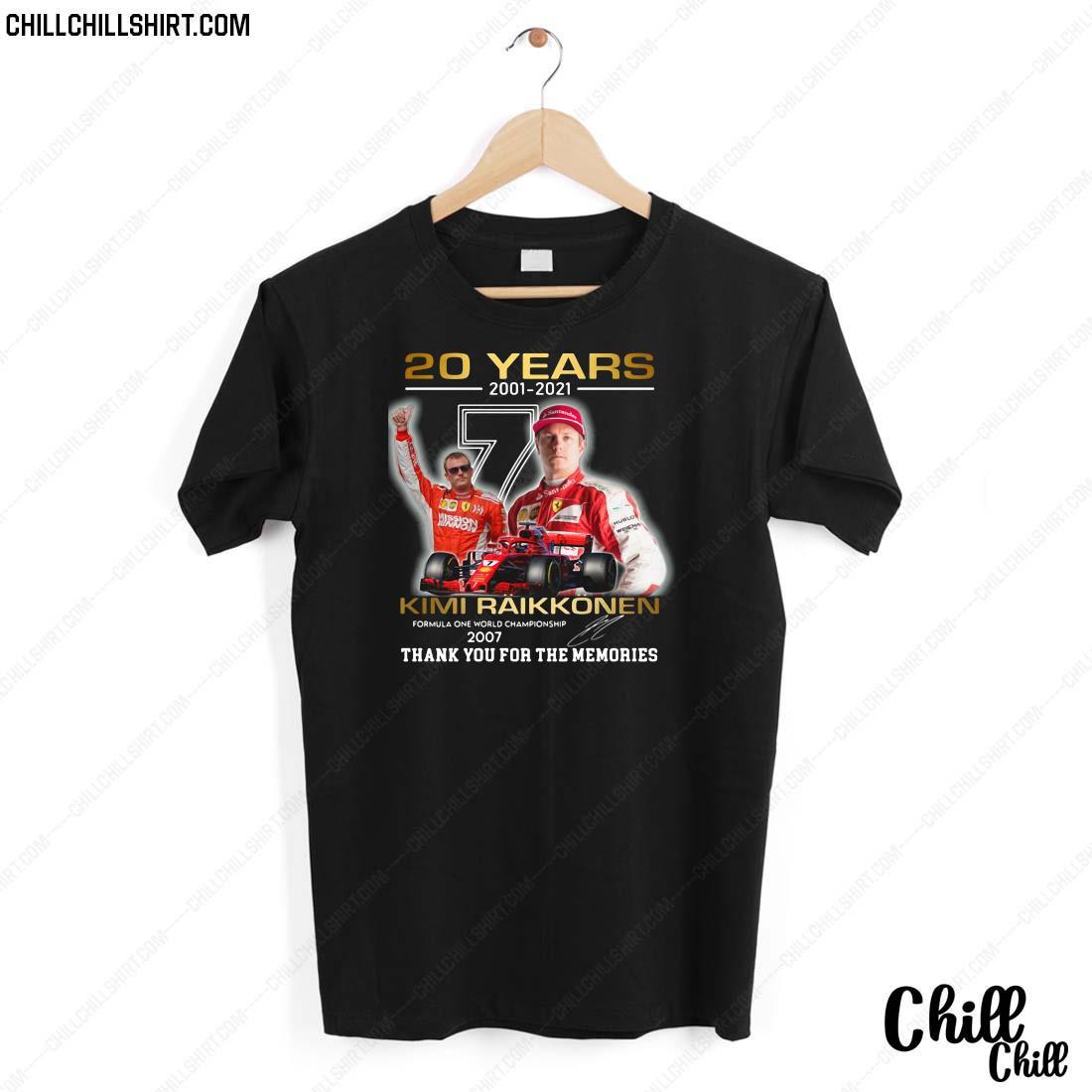 20 Years 2001-2021 Kimi Raikkonen Signature Thank You For The Memories Shirt