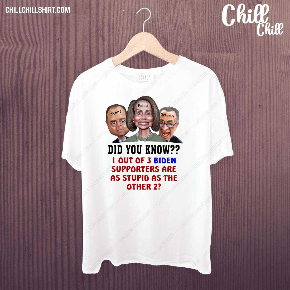 1 Out Of 3 Biden Supporters Are As Stupid As The Other 2 Shirt